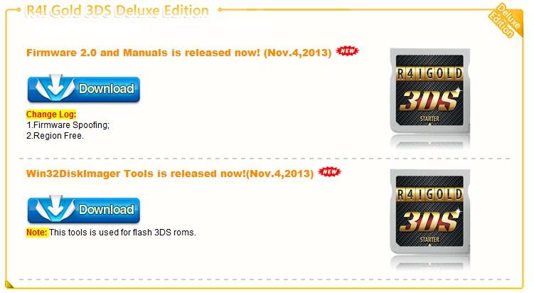 Nouveau Firmware 2.0 et tuto de R4i Gold 3DS Deluxe Edition sont disponible dans R4i gold 3DS Deluxe Édition fir2.0